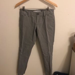Old Navy gray low rise short work pants